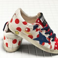 Golden Goose Super Star Sneakers In Cotton Canvas And Leather With Leather Star Kids - Golden Goose / GGDB