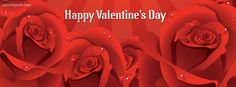 Happy Valentines Day Red Roses Facebook Cover CoverLayout.com