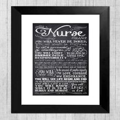 Gift for Nurse Personalized Chalkboard Nurse by InvitingMoments