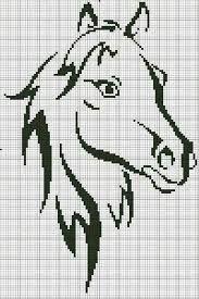Resultado de imagen para cabezas de caballos en punto de cruz