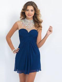 Sheath/Column Sleeveless High Neck Chiffon Crystal Short/Mini Dresses - Tight Homecoming Dresses - Homecoming Dresses