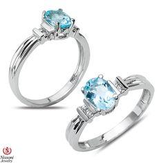 Ebay NissoniJewelry presents - Diamond Accent Fashion Ring with Aqua 10k White Gold  0.02CT    Model Number:FR8060SM-W077AQ    http://www.ebay.com/itm/Diamond-Accent-Fashion-Ring-with-Aqua-10k-White-Gold-0.02CT/321612079307