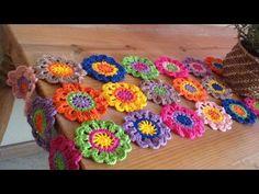 Crochet Table Mat, Crochet Baby Pants, Form Crochet, Crochet Home Decor, Japanese Flowers, Crochet For Beginners, Crochet Accessories, Crochet Flowers, Crochet Stitches