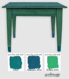 Annie Sloan's Chalk Paint color palette has several strong greens and blues; Florence and Antibes Green, Aubusson Blue and Napoleonic Blue. Each one used alone can dominate any color ...