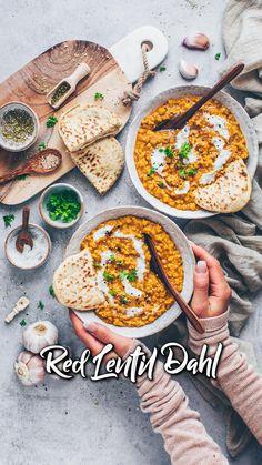 Easy Dahl Recipe, Vegan Dahl Recipe, Red Lentil Dahl Recipe, Dhal Recipe, Vegan Indian Recipes, Vegan Recipes Videos, Raw Food Recipes, Vegetarian Recipes, Cooking Recipes