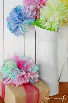 Make easy and colorful DIY paper flowers out of coffee filters!