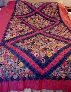 YoYo Quilt Bedspread Coverlet Bed Clean Fresh Yo Yo Vintage | eBay