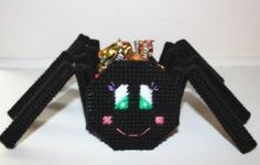 Halloween Spider Candy Holder in Plastic Canvas Pattern | eBay