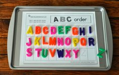 Kara's Classroom: Cookie Sheet ABCs & 123s - #preschool #learning