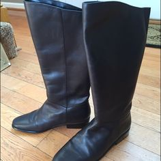 Brand new, brown boots. Sz 7.5 Brand new (in box), tall, brown boots. Never worn. Sz 7.5 St. John's Bay Shoes Winter & Rain Boots