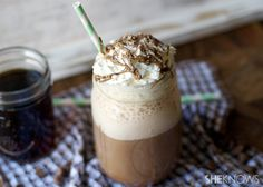 4 low fat homemade coffee drinks