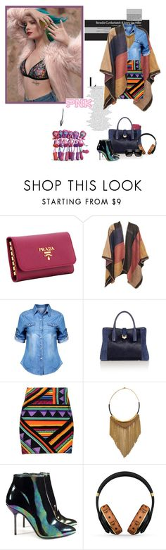 """PNK from Monster University"" by psiche-olga ❤ liked on Polyvore featuring Prada, Fiona Paxton, MCM, disney, dreamcast, monstersuniversity, monsterinc and disneypixar"