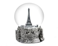 Paris Eiffel Tower Snow Globe