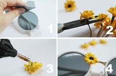 Now that's pretty: DIY Floral Sunglasses