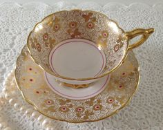 Hey, I found this really awesome Etsy listing at https://www.etsy.com/listing/196056731/gold-pink-royal-stafford-china-tea-cup