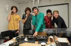 Boy band One Direction (left to right) Harry Styles, Liam Payne, Louis Tomlinson, Zayn Malik and Niall Horan during Capital FM's Help A Capital Child Appeal, at Global Radio in Leicester Square, central London.