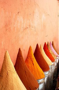 spices in the souk, Marrakech, Morocco Orange Is The New Black, Foto Poster, Jaune Orange, Orange Aesthetic, Orange You Glad, Orange Crush, Happy Colors, My Favorite Color, Color Inspiration