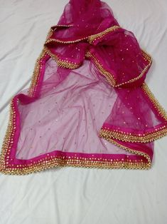 Rani Pink Wedding Evening Scarves Net Dupatta Women stole Indian Gifts for Her Bridesmaid ➤Material: NET ➤Product : Pure Net Dupatta ➤Color: Black ➤Condition: New ➤Care: Dry Clean Only ➤Dimension. Anarkali Dress, Lehenga Choli, Pakistani Dresses, Indian Dresses, Indian Outfits, Punjabi Dress, Kurti Designs Party Wear, Kurta Designs, Dress Designs