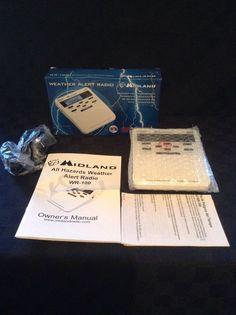 NIB Midland WR-100 All Hazards Alert Weather Radio Desktop NOAA with Alarm Clock #Midland