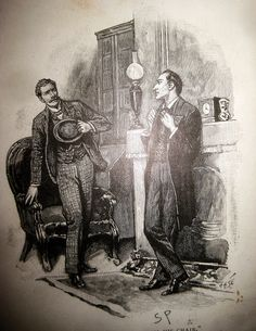 Sherlock Holmes and John Watson - Sidney Paget Book Illustration 6261 by Brechtbug, via Flickr