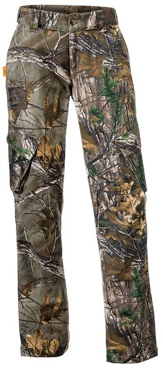 "SHE® Outdoor Utility Pants for Ladies | Bass Pro Shops // Customer Kevin1976 says: ""I bought these for my wife and she really likes them. They fit very well and are true to size. Also they are flattering. She said they had more pockets than she has ever had in a pair of pants. Overall very nice and recommended."" #SHEhunts #SHEoutdoor #womenshuntinggear #womenscamo #camopants"