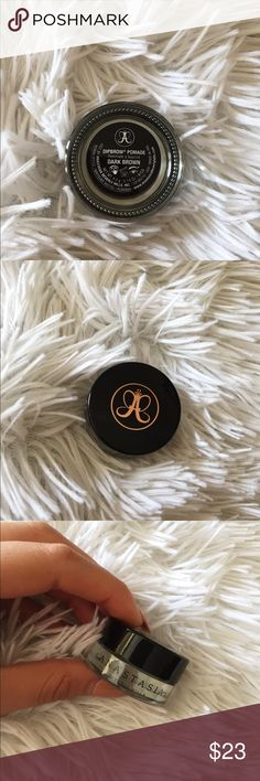 Anastasia Beverly Hills dipbrow pomade:dark brown The large Anastasia Beverly Hills dip brow pomade in the Sade DARK BROWN I used it twice and realized it was not my color at all & shipping was more than it cost itself! Anastasia Beverly Hills Makeup Eyebrow Filler