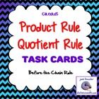 Calculus:+Product+Rule+Quotient+Rule+Derivatives+*Task+Cards*+ This+activity+on+the+product+rule+and+quotient+rule+is+part+of+the+unit+on+Derivati...