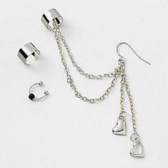 Silver Ear Cuffs Set of 3
