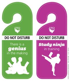 Printable 'do not disturb' signs. Stick these on your door at home for the ultimate, undisturbed study sesh! #usqstudy #yourewelcome #futurephoenixes