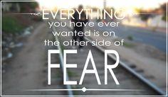 Fear only Fear itself.