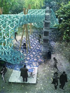 "The Ecole Spéciale d'Architecture in Paris recently announced Los Angeles based, Ball Nogues Studio as the winner of the 2012 edition of the ""Pavilion Spéciale"" competition in Paris, France. The Pavilion Spéciale is an installation that can be arched and curled at full scale with a small crane to form different types of space for the site"