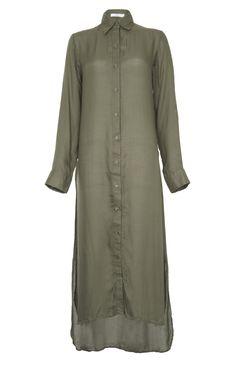 Aab UK Shirt Dress - Olive : Standard view
