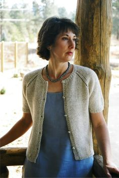 Knitting Pure and Simple--Diane Soucy--Neck Down Summer Cardigan