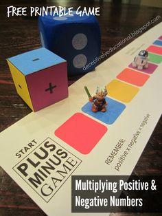 Relentlessly Fun, Deceptively Educational: Plus Minus Printable Game (Multiplying Positive & Negative Numbers)