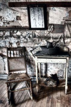 Garnet Ghost Town interior, Montana, USA