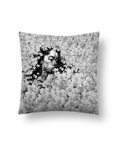 Cushion suede touch 45 x 45 cm Interrompere - PedroTapa #pillow #woman #flower