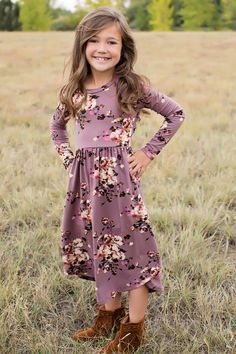 69472bdade Girls Now or Never Floral Midi Dress. Boutique FashionBoutique ClothingKids  Outfits GirlsGirl OutfitsModern Vintage ...