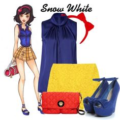 """Disney High: Snow White"" by disneykid95 on Polyvore"