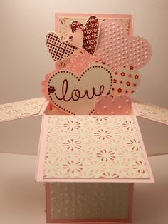 Valentine Pop Up Box card. Would also make a great baby, wedding or engagement card.