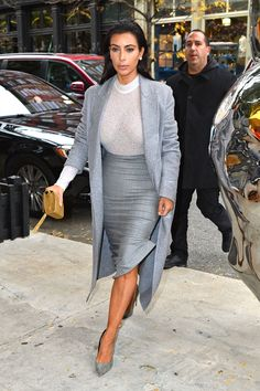 Kim Kardashian arrives at an office for a meeting in Woodland Hills, California. SplashNews -Cosmopolitan.com