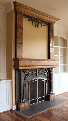 Steel & Wood Fireplace | Flickr - Photo Sharing!