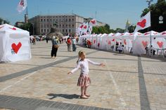 Tents erected in support of Tymoshenko during her second campaign for PM (2009)