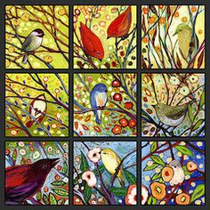 Birds Paintings - The NeverEnding Story Set 9A  by Jennifer Lommers