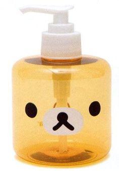 Rilakkuma Soap Dispenser.                      ❤  Pinterest@ Kawaii Duck ❤