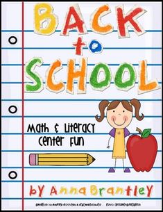 Back to School Math & Literacy Centers!! {5 math & 5 literacy}