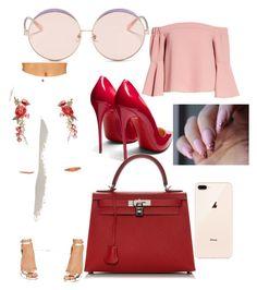 """Sans titre #3"" by liliantoine on Polyvore featuring mode, WearAll, Topshop, Christian Louboutin, Hermès et N°21"