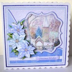 WINTER CHURCH 7 5 Christmas Mini Kit Decoupage on Craftsuprint designed by Janet Briggs - made by Margaret McCartney