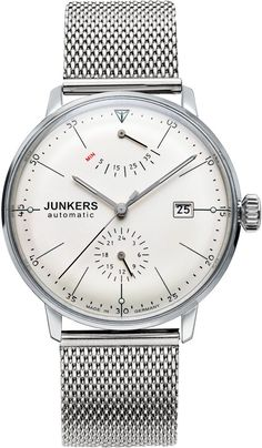 Junkers Watch Bauhaus #2015-2016-sale #bezel-fixed #black-friday-special #bracelet-strap-steel #brand-junkers #case-depth-12mm #case-material-steel #case-width-40mm #classic #date-yes #delivery-timescale-1-2-weeks #dial-colour-cream #gender-mens #movement-automatic #official-stockist-for-junkers-watches #packaging-junkers-watch-packaging #power-reserve-yes #sale-item-yes #style-dress #subcat-bauhaus #supplier-model-no-6060m-5 #vip-exclusive #warranty-junkers-official-2-year-guarantee…