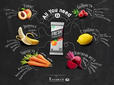 all you need is chalk on Behance Fresh Juice Bar, Chalk Menu, Food Menu Design, Food Banner, Stationary Design, Gifts For Photographers, Wine List, Food Drawing, Food Illustrations