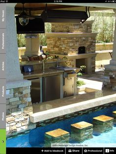 Outdoor bar/ pool#Pin By:Pinterest++ for iPad#